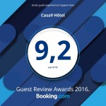 Casa9 Hotel**** - Booking.com Guest Rview Awards 2016